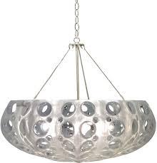 oly studio luna bowl chandelier in pearl silver