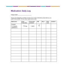 Medication Logs 58 Medication List Templates For Any Patient Word Excel Pdf
