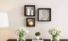 lavish home floating open cube wall shelves
