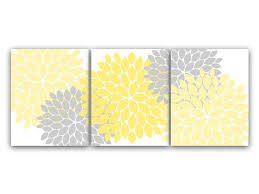 home decor wall art yellow and gray flower burst art bathroom wall decor yellow bedroom decor nursery wall art  on grey and yellow wall art nursery with home decor wall art yellow and gray flower burst art canvas prints