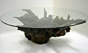 Good Coffee Table, Cool Dark Brown Round Antique Glass And Wooden Unique Glass Coffee  Tables Laminated
