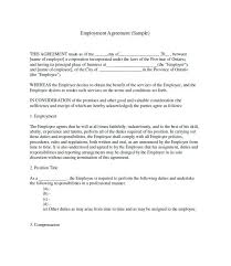 Standard Employment Contract Classy 44 Great Contract Templates Employment Construction Photography Etc