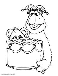 Small Picture Sesame Street coloring pages pdf