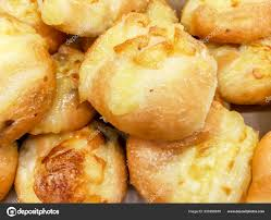 Closeup Crop Cheese Breads Bakery Shop Background Wallpaper Stock