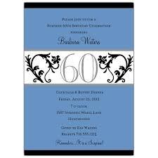 Elegant Vine Blue 60th Birthday Invitations Paperstyle