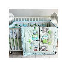 7pcs baby bedding set owl family nursery quilt per sheet soft crib skirt hot