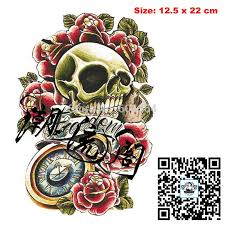 temporary arm tattoos waterproof big s makeup tattoo body art henna tatouage ax33 skull rose pocket watch stickers on jewelry temporary