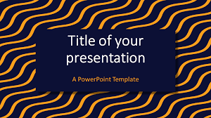 Blue And Gold Powerpoint Template Blue Yellow Wavy Pattern Powerpoint Template Presentationgo Com