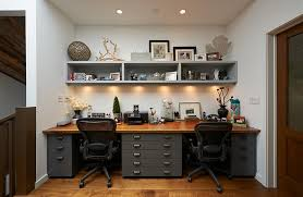 Image Design Ideas View In Gallery Under Shelf Lighting Doubles As Task Lighting In The Home Office Decoist Tips For Home Office Lighting Ideas