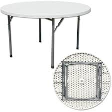 commercial 5ft plastic banquet folding table and chairs 5ft round table outdoor plastic banquet