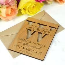 laser cut wedding monogram save the date