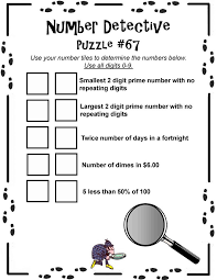 number detective math tiles middle school pack