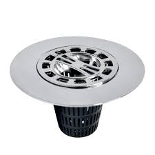 hair catcher shower drain cover in chrome