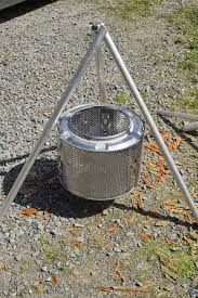 alternative to legs for a diy washing machine drum fire pit