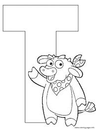 Letter T Coloring Page Printable Coloring Pages Letter T Letter
