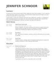 Warehouse Resume Template New Warehouse Associate Resume Samples VisualCV Resume Samples Database