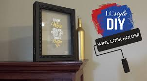 wine cork holder frame