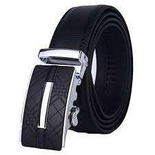 lavemi men s leather ratchet dress belt with automatic buckle