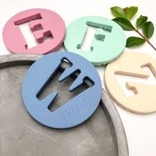 <b>AlphaBET</b> Chews <b>silicone letter</b> teething disc - personalised with ...
