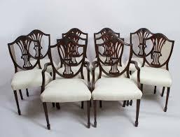 Antique Set 10 Shieldback Mahogany Dining Chairs C 1900 Ref No