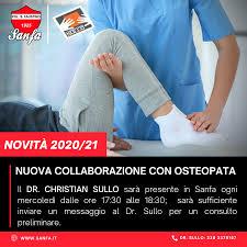 Nuova collaborazione con osteopata – Sanfa.it