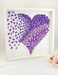 3d paper heart wall art