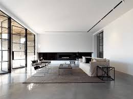 interior design furniture minimalism industrial design. Monochromatic Living Room Interior Design Furniture Minimalism Industrial T