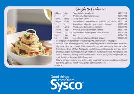 Sysco Menu Design Valentines Day Menu Ideas Spaghetti Carbonara