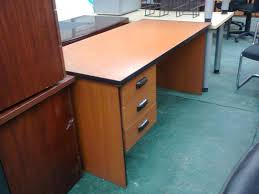 cherry used office furniture desks credenzas cupboards bookshelves etc