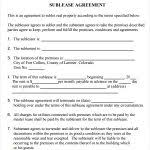sublease contract template residential sublease agreement template residential sublease