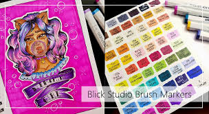 Blick Marker Color Chart Mara Medium Review Blick Studio Brush Markers