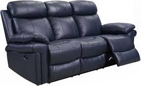 shae joplin blue leather power reclining sofa