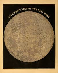 Details About Full Moon Phases Diagram Old Astronomy Chart Art Vintage Illustration Print