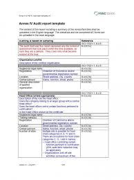 011 Internal Audit Report Template Qg Ideas Reports