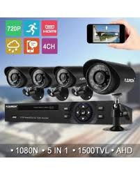 Floureon 4CH House Camera System DVR 1080N AHD + 4 Outdoor/Indoor Bullet Home Security Can\u0027t Miss Bargains on