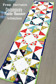 Table Runner Patterns Mesmerizing Contemporary Table Runner Pattern Sewing Tutorials And Tips SSE