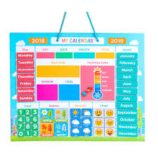 Usable On Wall Or Fridge Moods And Emotions Weather Station For Kids My First Daily Magnetic Calendar Custom Reward Chart Buy My First Daily