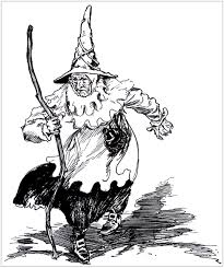 Small Picture Halloween Coloring pages for adults halloween scary witch in