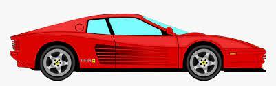 Car Clipart Ferrari Spa Ferrari Cartoon Png Transparent Png Kindpng