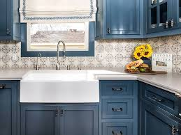 relax and destress in this blue beautiful kitchen