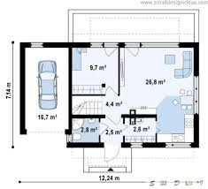 first floor plan of the 4 bedroom cool Scandinavian style house