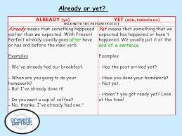 So…let's talk about the FORM of the PRESENT PERFECT TENSE first…OK ...