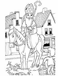 Kleurennu Sinterklaas Op Paard Kleurplaten