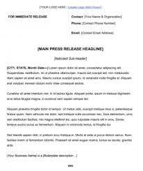Press Release Templet How To Write A New Hire Press Release Free Template
