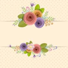 Paper With Flower Border Craft Paper Flowers Border With Space For Text Download