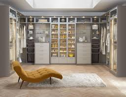 Walk in closet lighting Shoe Closet Grey And White Closet With Drawers Closet Rods Glass Fronted Display Cabinets And Built In Lighting Countifysinfo Walk In Closets Designs Ideas By California Closets