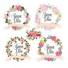 wreaths fl clipart digital wreath fl frames flowers arrows clip art for sbooking wedding invitations small commercial use 5 00 usd