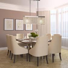 linear dining room lighting. 5-Light Chrome Linear Caged Crystal Pendant With Shade Dining Room Lighting