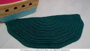 crochet half circle rug or mat instant pdf by free crochet pattern