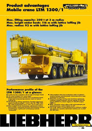 Ltm 1300 6 2 Load Chart Product Advantages Mobile Crane Ltm 1300 1 Passion Liebherr